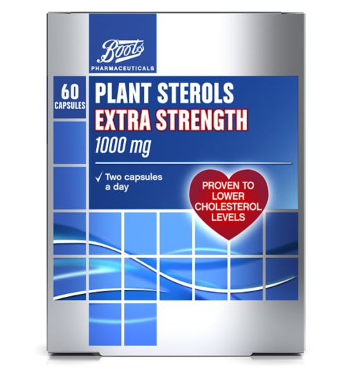 Boots Plant Sterols Extra Strength 1000mg - 60 Capsules
