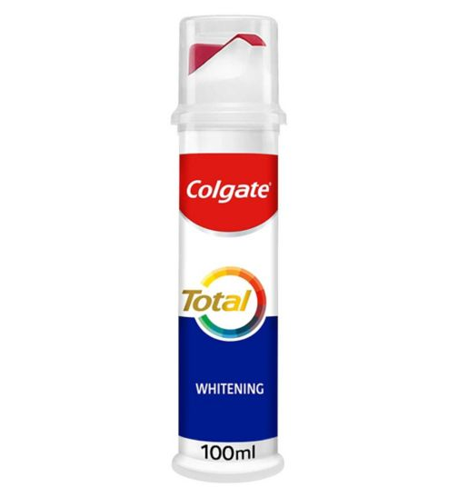 Colgate Total Whitening Toothpaste Pump - 100ml