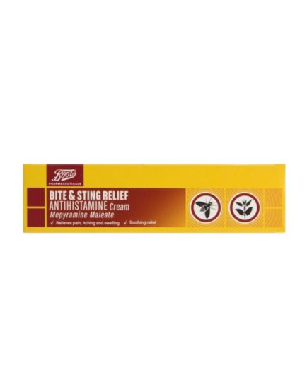 Boots Pharmaceuticals Bite & Sting Relief Antihistamine Cream (30g)