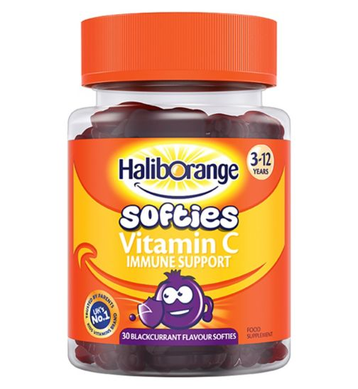 Haliborange 3-12 Years Vitamin C Immune Support - 30 Blackcurrant Flavour Softies