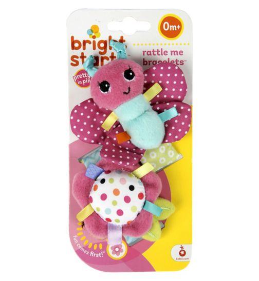 Bright Starts Pink Rattle Bracelets