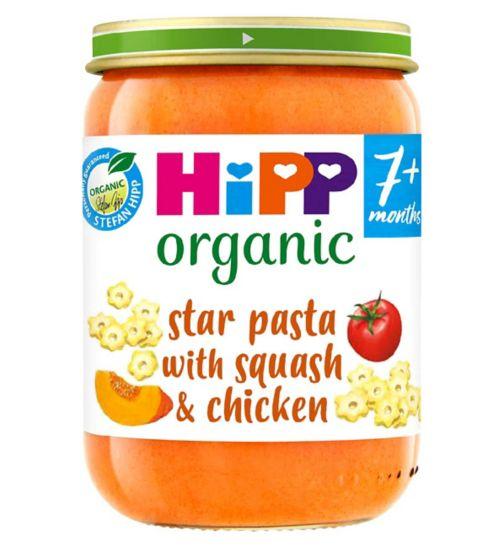 HiPP Organic Star Pasta with Sweet Squash & Chicken 7+ Months 190g