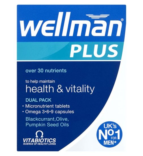 Vitabiotics Wellman Plus Omega 3, 6 & 9 - 56 Tablets