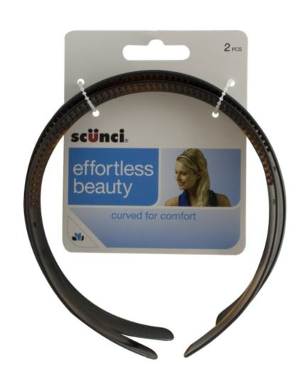 Scunci Comfort Grip Hair Band 2 pack