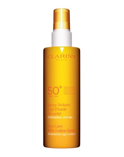 Clarins New Sun Care Milk-Lotion Spray Very High Protection UVB 50+
