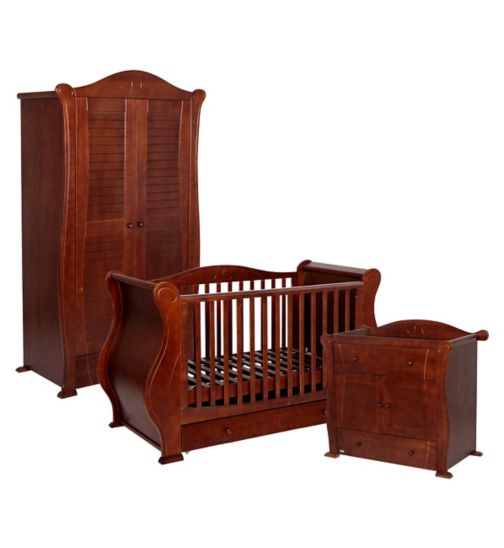 Tutti Bambini 3 Piece Marie Nursery Furniture Suite - Walnut Finish