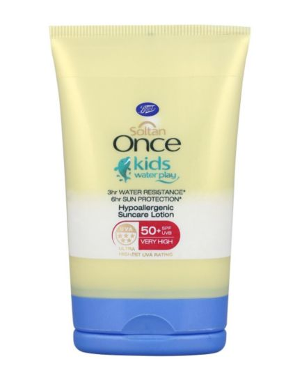 Soltan Once Kids 3 hours Waterplay Hypoallergenic Suncare Lotion SPF50+ 50ml