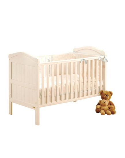 East Coast Country Cot Bed - White Finish