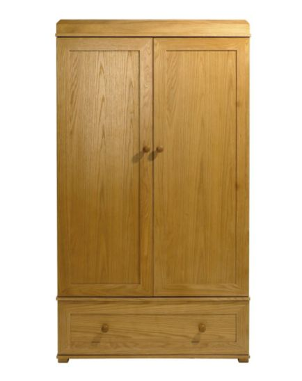 East Coast Langham Oak Wardrobe - Natural Finish