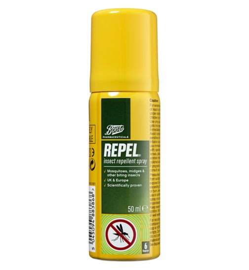 Boots Pharmaceuticals Repel Original Insect Repellent Spray - 50ml