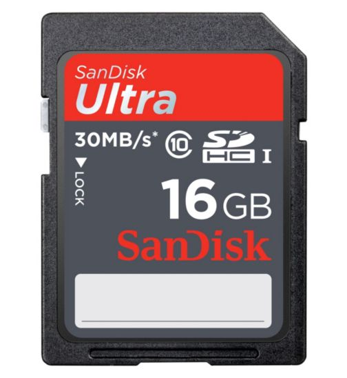 SanDisk Ultra® SDHC Memory Card - 16GB