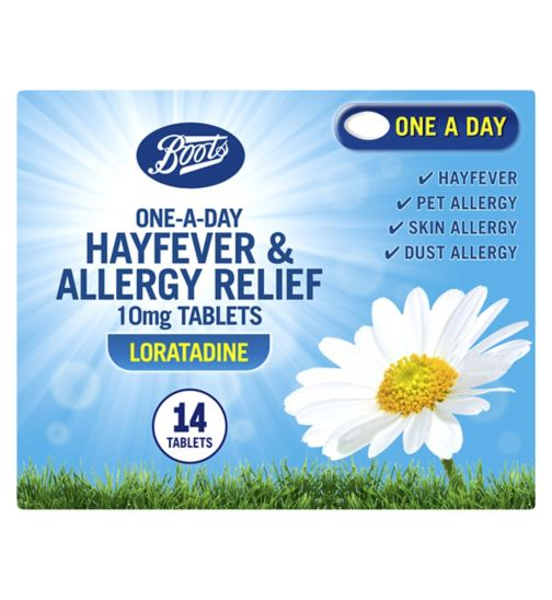 Boots Pharmaceuticals One-A-Day Allergy Relief 10mg Tablets - 14 Tablets