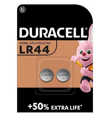Duracell LR44 Electronics Battery  2 Batteries