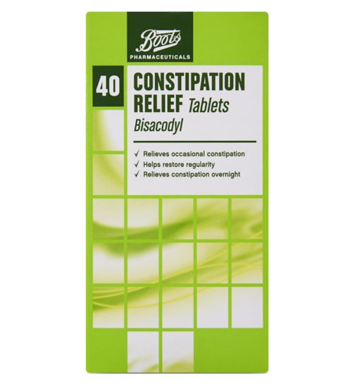 Boots Pharmaceuticals Constipation Relief Tablets - 40 Tablets