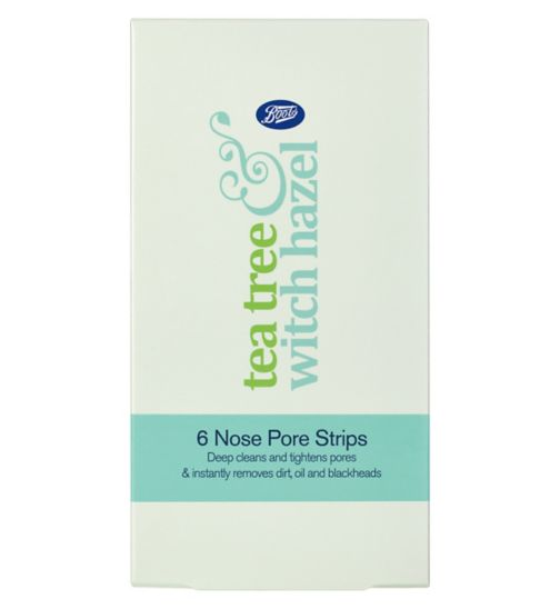 Boots Tea Tree and Witch Hazel Nose Strips x6