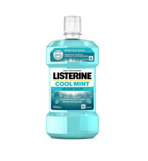 Less Intense Listerine Zero Mouthwash - mild mint 500ml