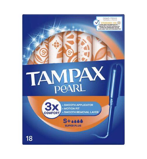 Tampax Pearl Super Plus Tampons x18