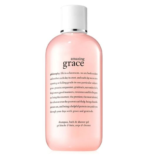 philosophy amazing grace perfumed 3 in 1 shampoo, bath & shower gel 480ml