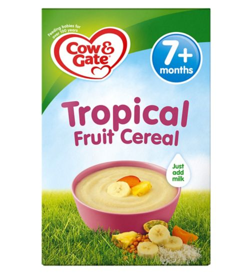 Cow & Gate Sunny Start Tropical Fruit Cereal from 7m onwards 200g