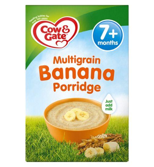 Cow & Gate Sunny Start Multigrain Banana Porridge from 7m onwards 200g