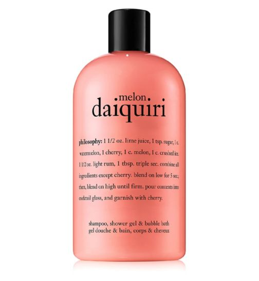 philosophy melon daiquiri 3 in 1 shampoo, shower gel & bubble bath 480ml