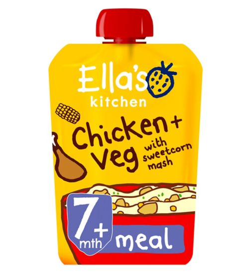 Ella's Kitchen Oh So Creamy Chicken + Sweetcorn Mash with Herb Sprinkles Stage 2 from 7 Months 130g