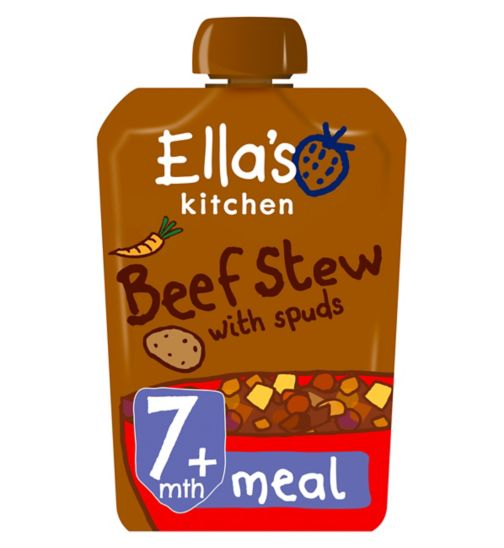 Ella's Kitchen Wonderfully Warming Beef Stew with Spuds Stage 2 from 7 Months 130g