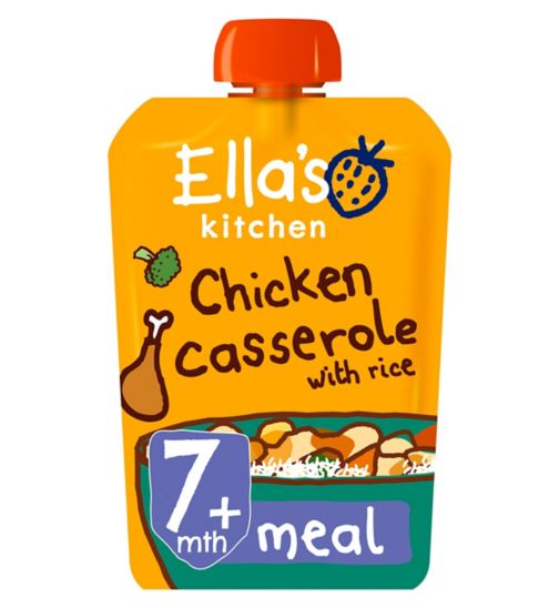 Ella's Kitchen Chick-Chick Chicken Casserole with Rice Stage 2 from 7 Months 130g
