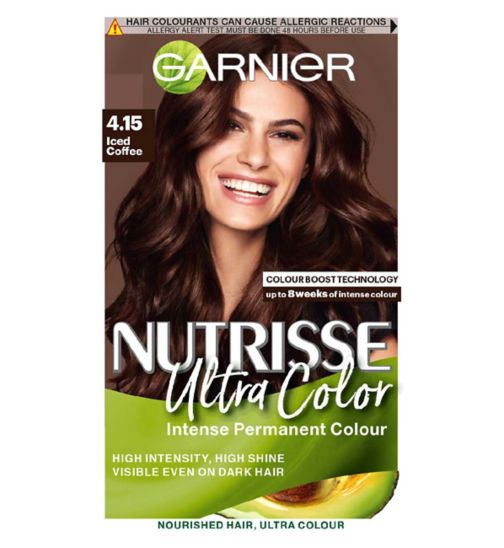 Garnier Nutrisse 4.15 Ultra Iced Coffee Brown Permanent Hair Dye