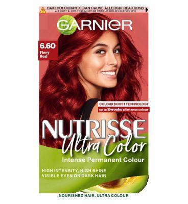 Garnier Nutrisse 6.60 Ultra Fiery Red Permanent Hair Dye by Garnier