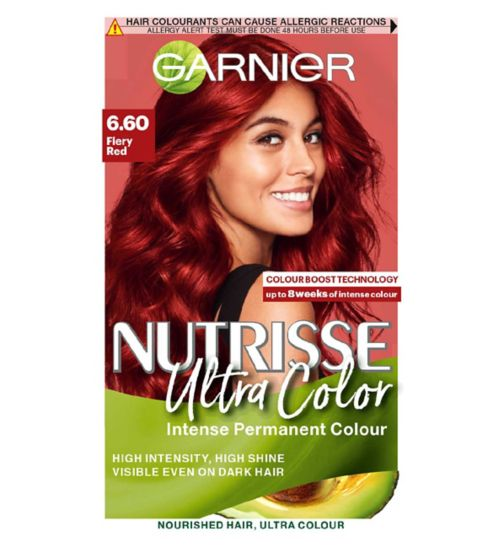 Garnier Nutrisse Ultra Permanent Colour 6.60 Fiery Red