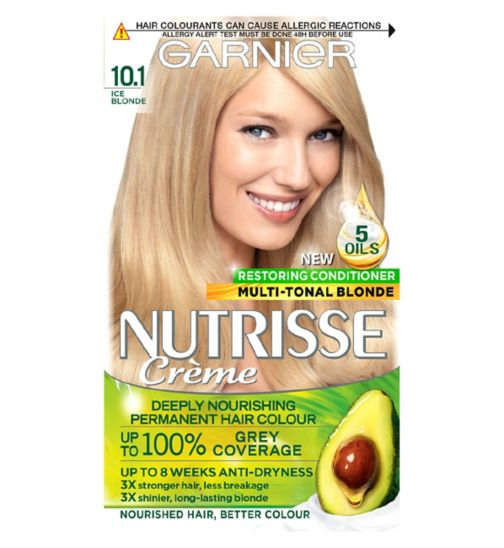 Garnier Nutrisse 10.1 Ice Blonde Permanent Hair Dye