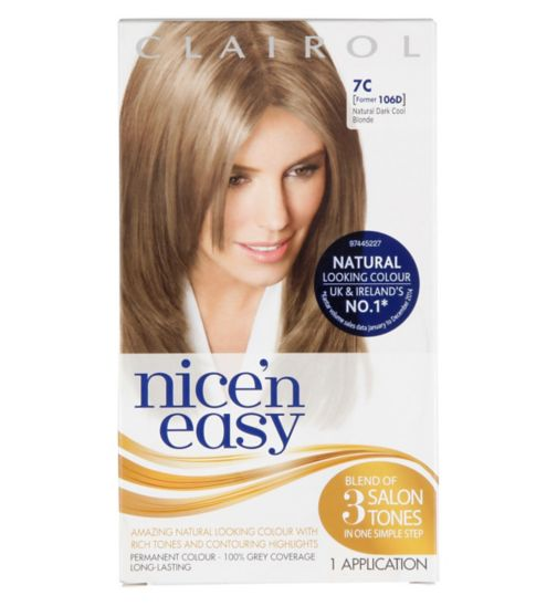 Nice'n Easy Permanent Hair Colour #7 Natural Dark Cool Blonde (Former #106D)