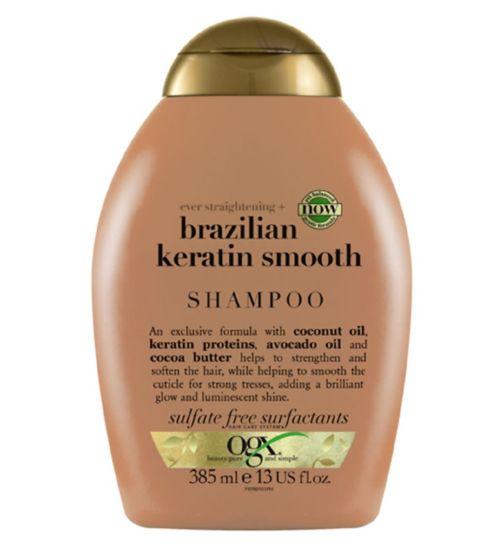 OGX Ever Straight Brazilian Keratin Therapy Shampoo 385ml