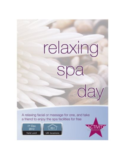 Activity Superstore - Relaxing Spa Day
