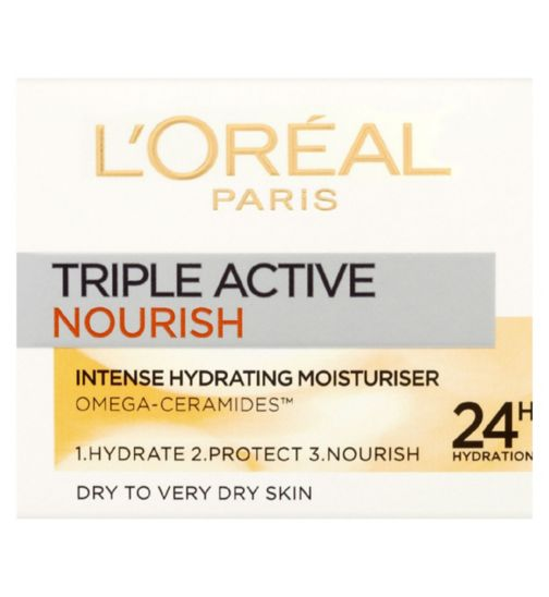 L'Oreal Paris Triple Active Nourish Day Moisturiser Dry to Very Dry Skin 50ml
