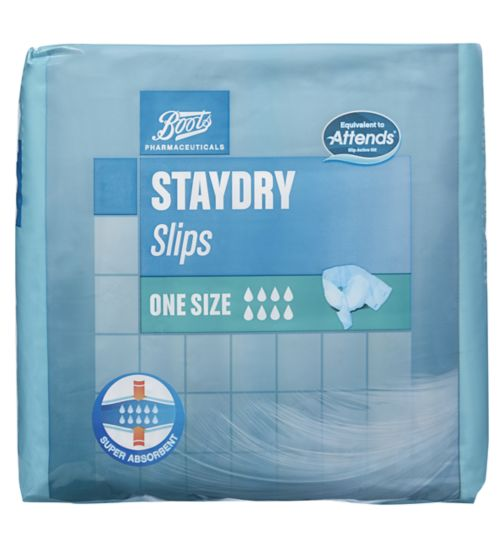 Boots Staydry Slips One Size - 10 Slips