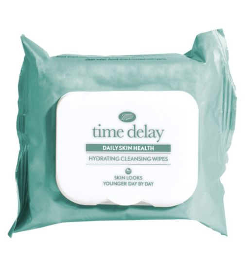 Boots Time Delay Hydrating Daily Cleansing Wipes 25s