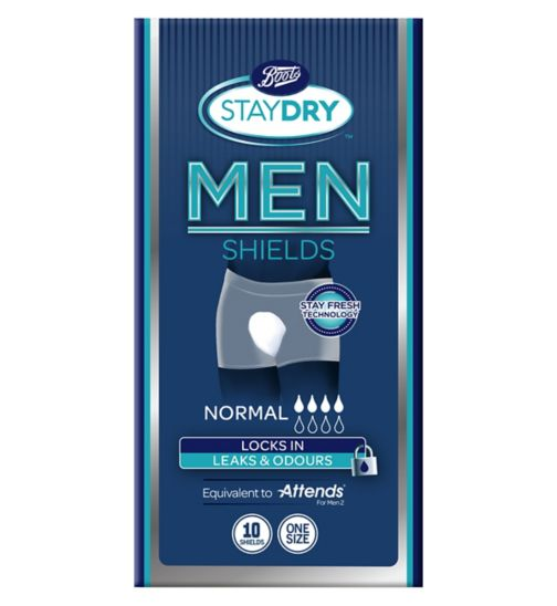 Boots Pharmaceuticals Staydry for Men Normal - 10 Shields