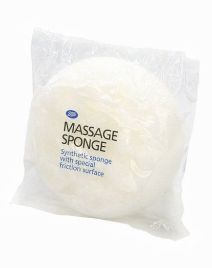 Boots Massage Sponge - White