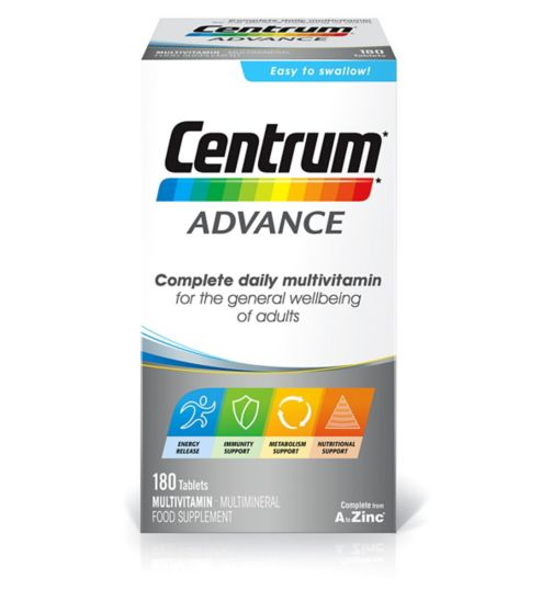 Centrum Advanced Multivitamins - 180 Tablets