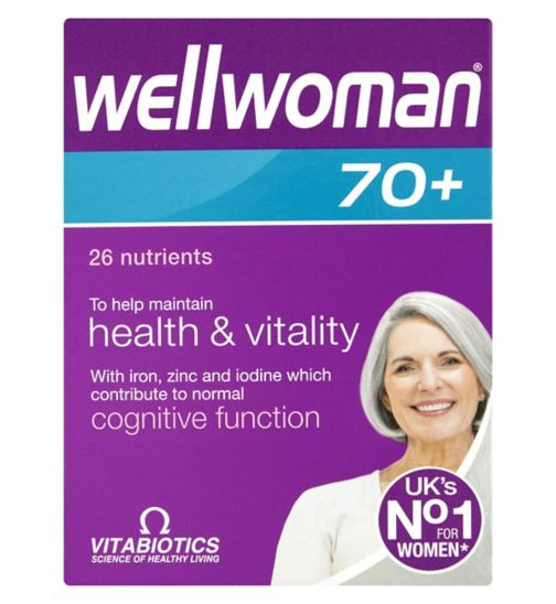 Vitabiotics Wellwoman 70+ Tablets - 30 Tablets