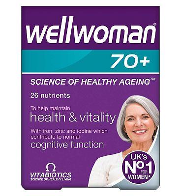 Vitabiotics Wellwoman 70+ Tablets - 30 Tablets