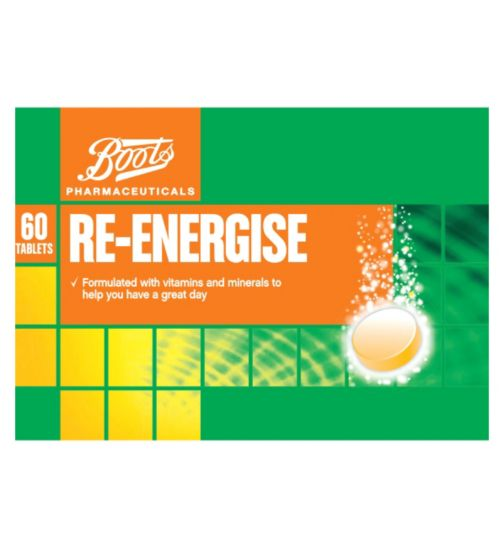 Boots Re:Balance Re-Energise Effervescent Orange Flavour (3 Pack 60 Tablets)