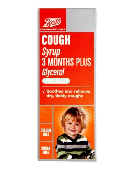 Boots Pharmaceuticals Cough Syrup 3 Months Plus (100ml)