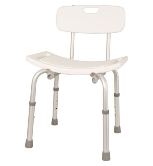 Homecraft Shower Stool with Handles and Backrest