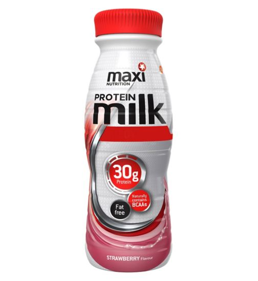 MaxiNutrition Maxi-Milk Strawberry with sweetener - 330ml