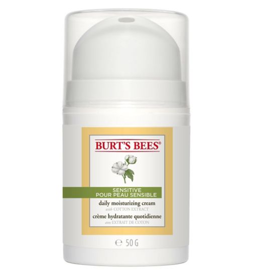 Burt's Bees Sensitive Daily Moisturising Cream, 50g
