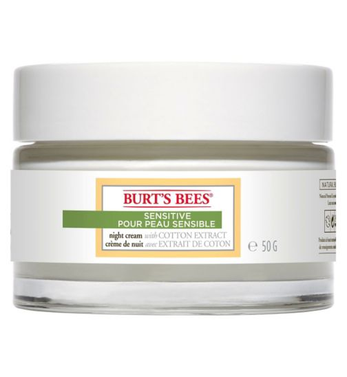 Burt's Bees Sensitive Night Cream, 50g