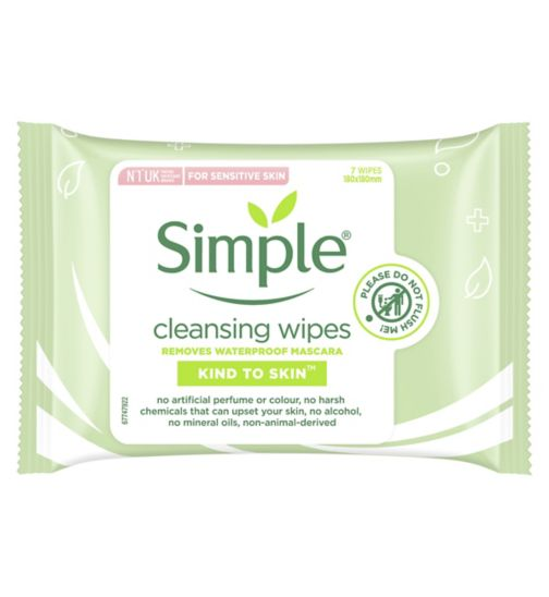 Simple Kind To Skin Cleansing Facial Wipes 7pc